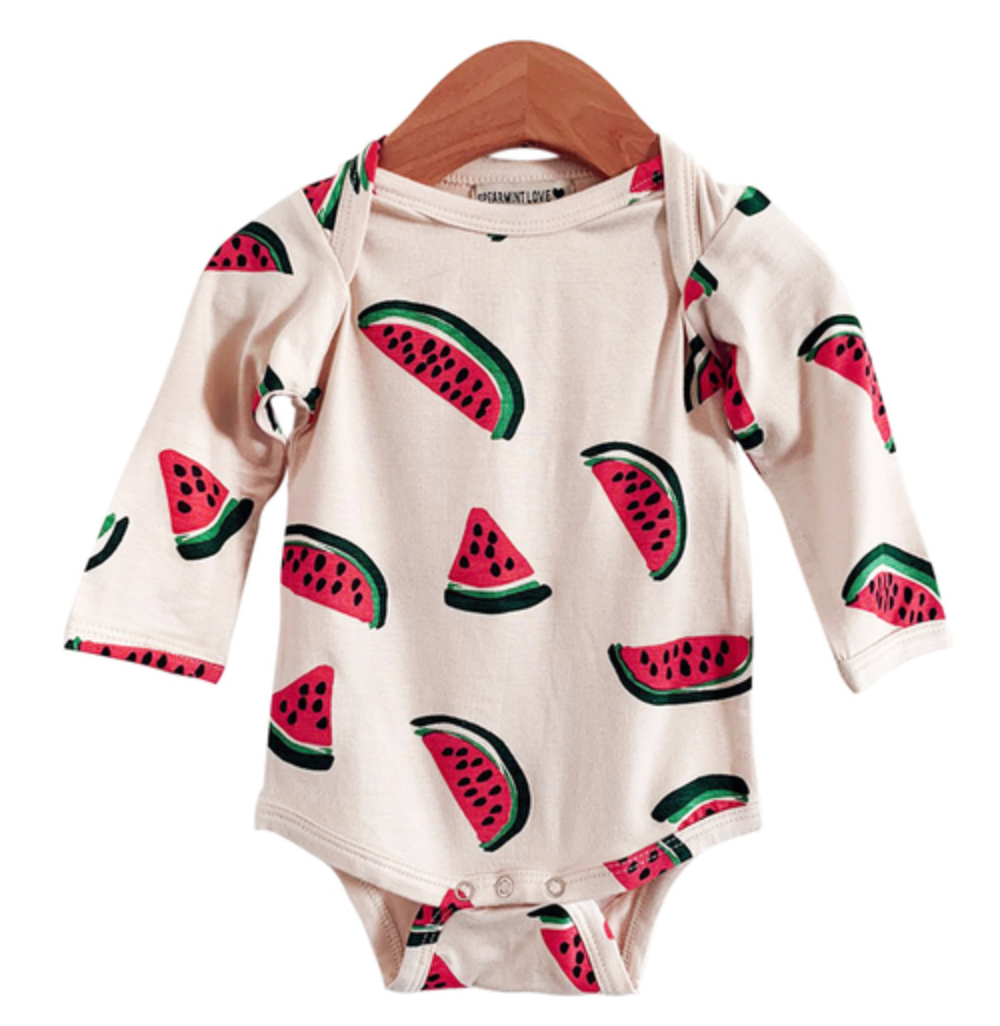 Longsleeve Bodysuit in Watermelon