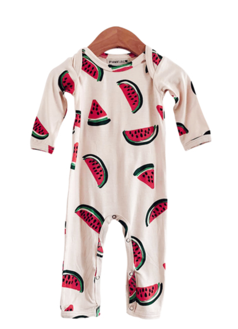 Watermelon Footless Romper