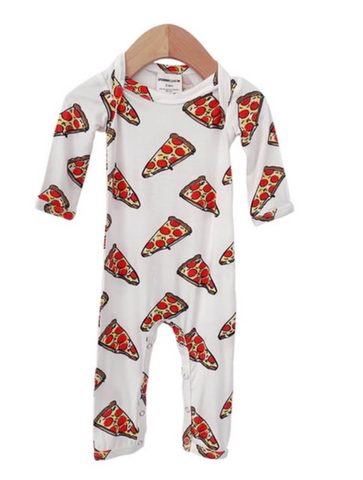 Pizza Footless Romper