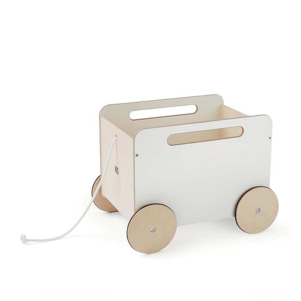 White Wooden Wheelie Toychest
