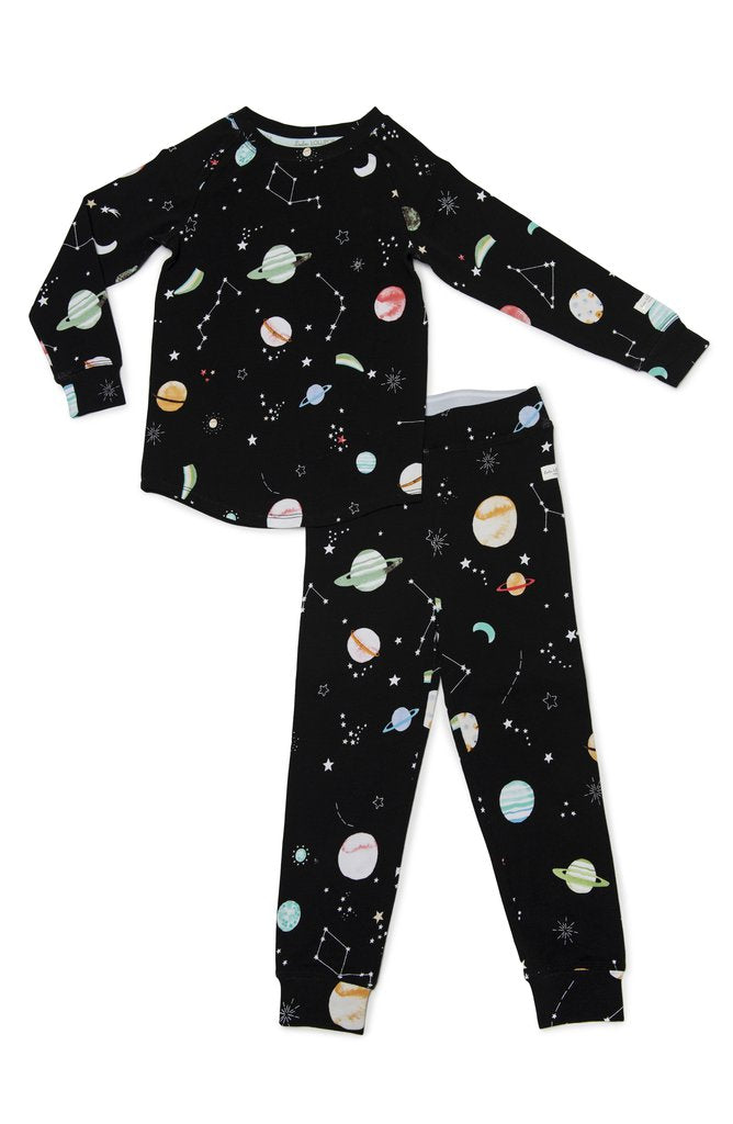 2 Piece Pajama Set In Planets