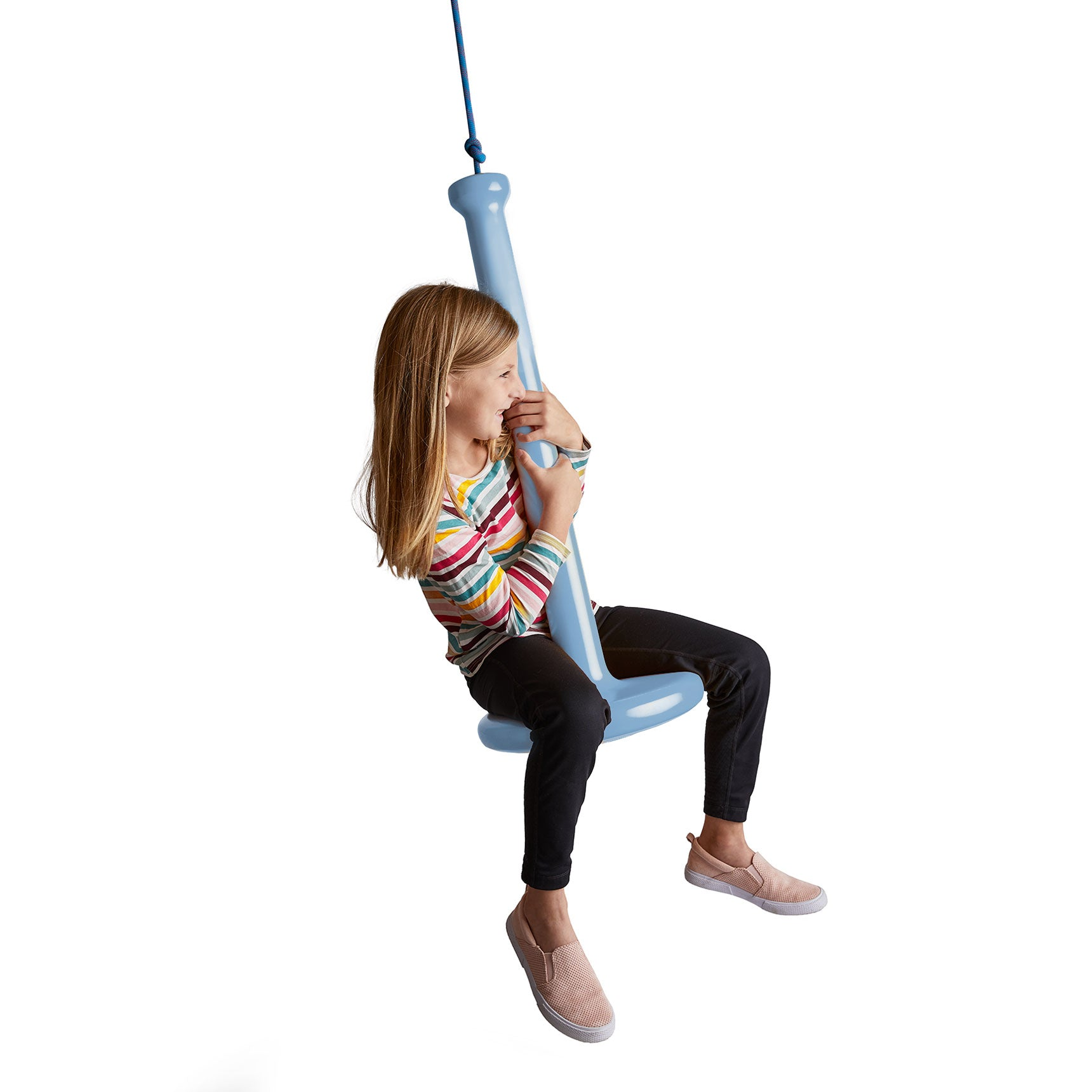 Kids Tree Swing with Rope for Outdoor Use Blue | Girl on Swing
