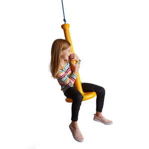Open image in slideshow, Most Fun Tree Swing For Kids  Made of Plastic and Durable for All-Weather Use Sunshine Yellow | Child on Swing