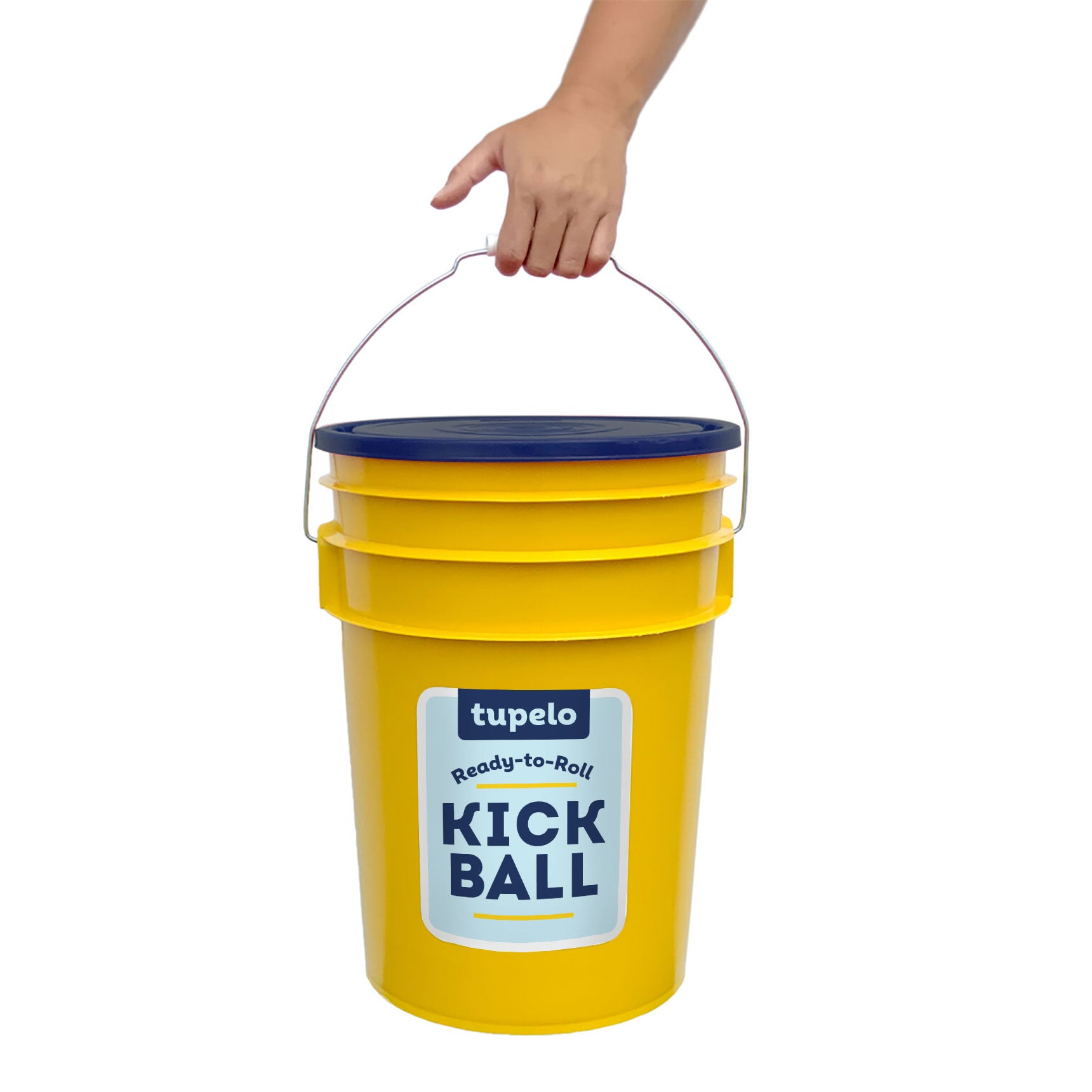 Kickball in a Bucket makes it super durable and easy to transport and store in your garage