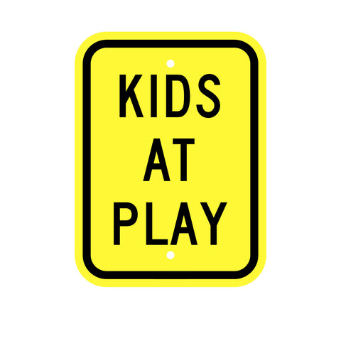 Kids at Play Sign INCLUDED