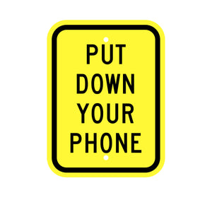 Put Down Your Phone Sign for Safety Children at Play