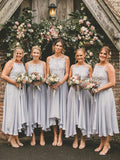 Simple Sleeveless Chiffon Party Dresses Short Bridesmaid Dresses, SW1115
