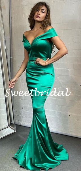 New Arrival Off-shoulder Mermaid Evening Party Prom Dresses, SW1126