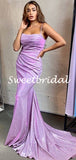 New Arrival Spaghetti Strap Sleeveless Mermaid Evening Party Prom Dresses, SW1127