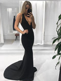 Mermaid V-neck Vintage Evening Party Prom Dresses,DB011