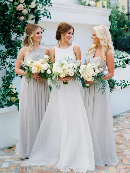 Charming Sleeveless Chiffon Party Dresses Long Bridesmaid Dresses, SW1116
