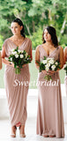 Charming Sleeveless Party Dresses Long Bridesmaid Dresses, SW1117