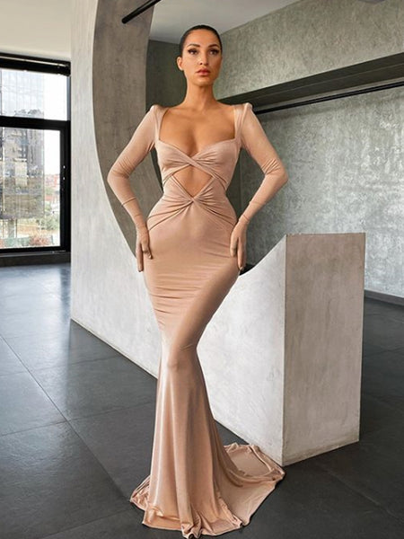 New Arrival Queen Anna Neck Mermaid Evening Party Prom Dresses,SW1134