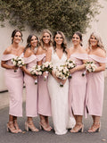 Charming Off-shoulder Sleeveless Mermaid Bridesmaid Dresses, SW1157