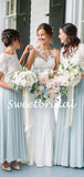 Charming Short Sleeve Lace Chiffom Party Dresses Long Bridesmaid Dresses, SW1118