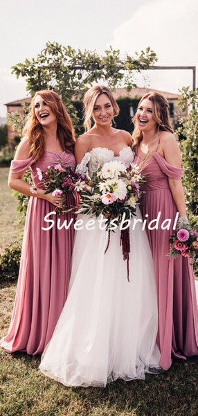 Simple Charming Off-shoulder Party Dresses Bridesmaid Dresses, SW1106
