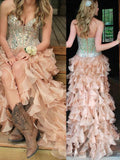 New Sweetheart Vintage Unique For Teens Sparkly Bohemian Long Prom Dresses.  DB0067