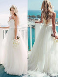 New Spaghetti Straps Simple Ball Gown Wedding Dresses. RG0074