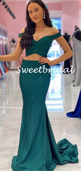 Simple Off-shoulder Mermaid Ball Gown Evening Party Prom Dresses,SW1141