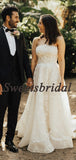 Pretty Sweetheart Vintage Lace Tulle A-line Long Wedding Dresses Evening Dresses, WD1135