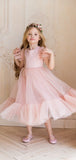 Lovely Round Neck Sleeveless A Line Tulle Flower Girl Dresses,GTE2135