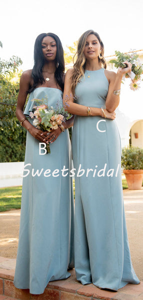 Simple Charming Sleeveless Party Dresses Long Bridesmaid Dresses, SW1108