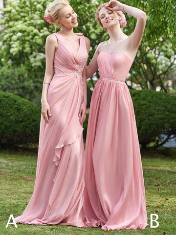 products/Pink_Chiffon_Mismatched_A-line_Long_Bridesmaid_Dresses_PB1061-1.jpg