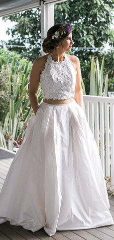 products/White_Lace_Satin_Two_Piece_Halter_With_Pocket_Wedding_Dresses_DB0178-2.jpg