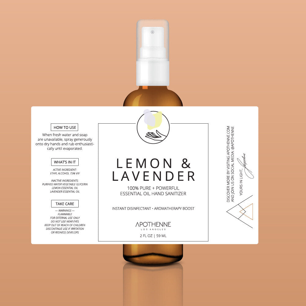 LEMON + LAVENDER | ESSENTIAL OIL HAND SANITIZER