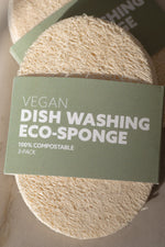 3-Pack Biodegradable Eco-Sponges for Dish Washing