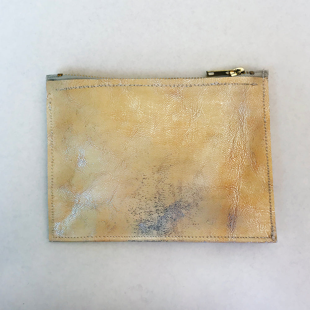 Handmade Leather Zipper Pouch - Small