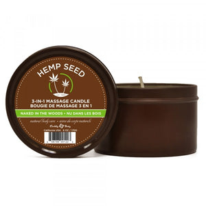 Earthly Body Hemp Seed 3-in-1 Massage Candles