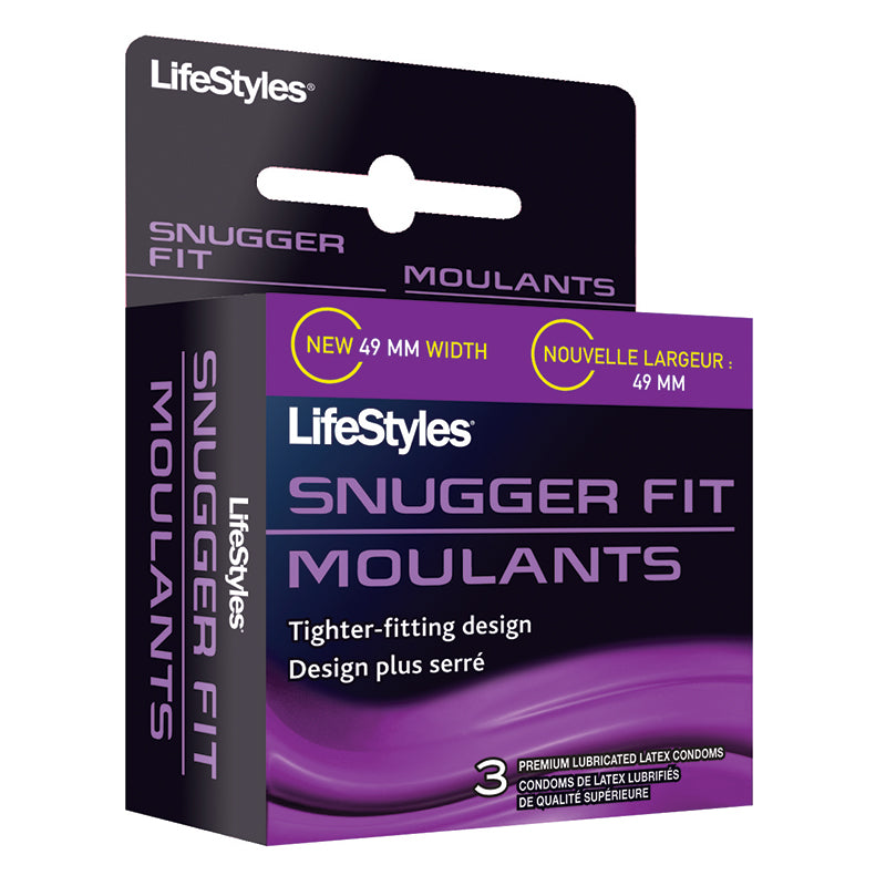 LifeStyles Snugger Fit Lubricated Latex Condoms