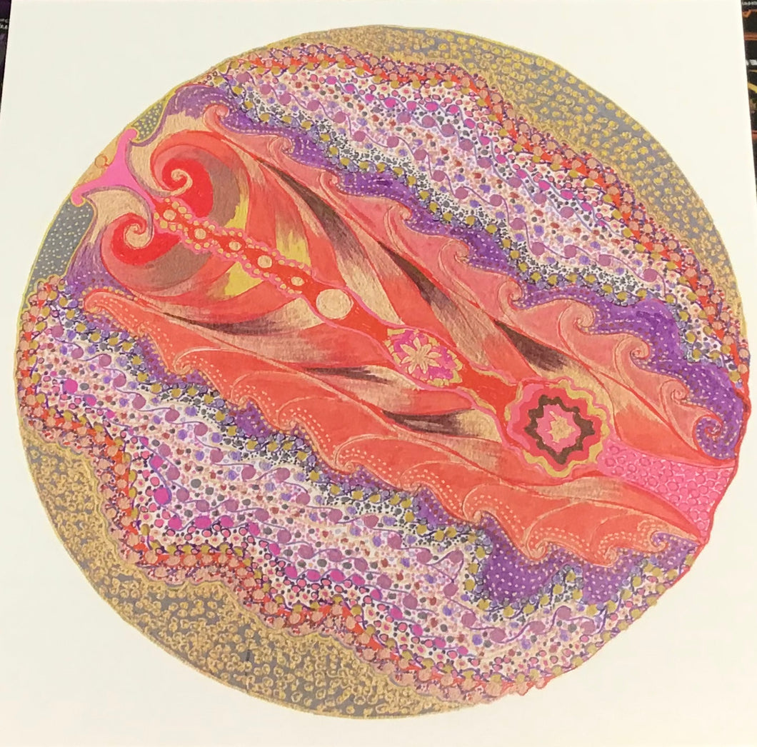 Local Artist Post Card - Pink Yoni