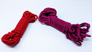 Hemp Bondage Rope - Hand Dyed / Prepared