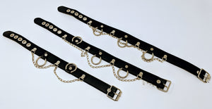 Vegan Collars with Studs / Rivets / Ring & Chain
