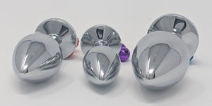 Jeweled Metal Butt Plugs