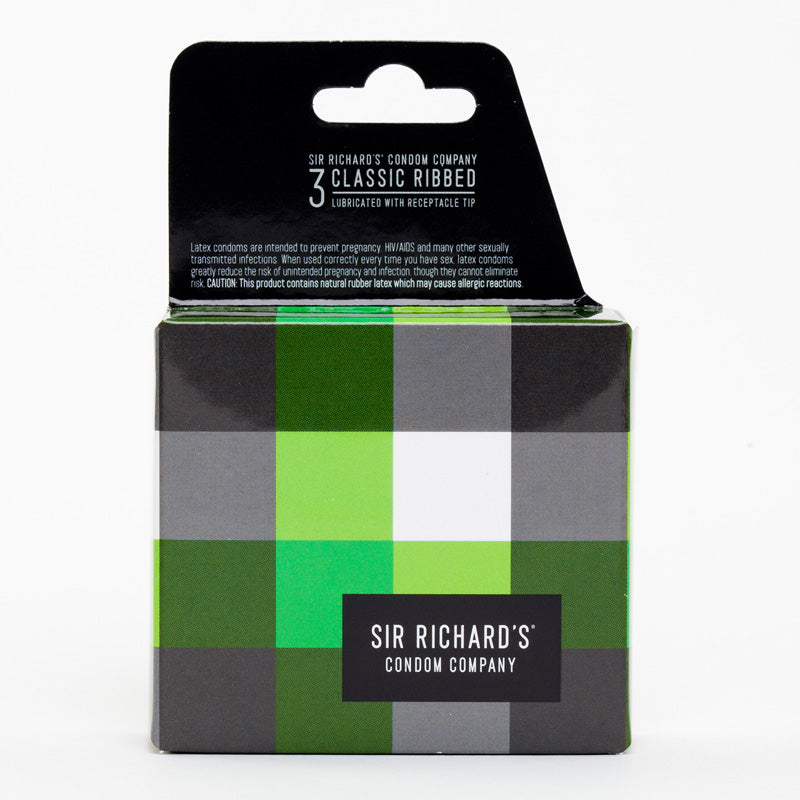 Sir Richard Condoms – 3 Pack Classic Ribbed - LOT #14N1552