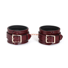 Load image into Gallery viewer, Wine Red ~ Ankle cuffs with Rose Gold Hardware