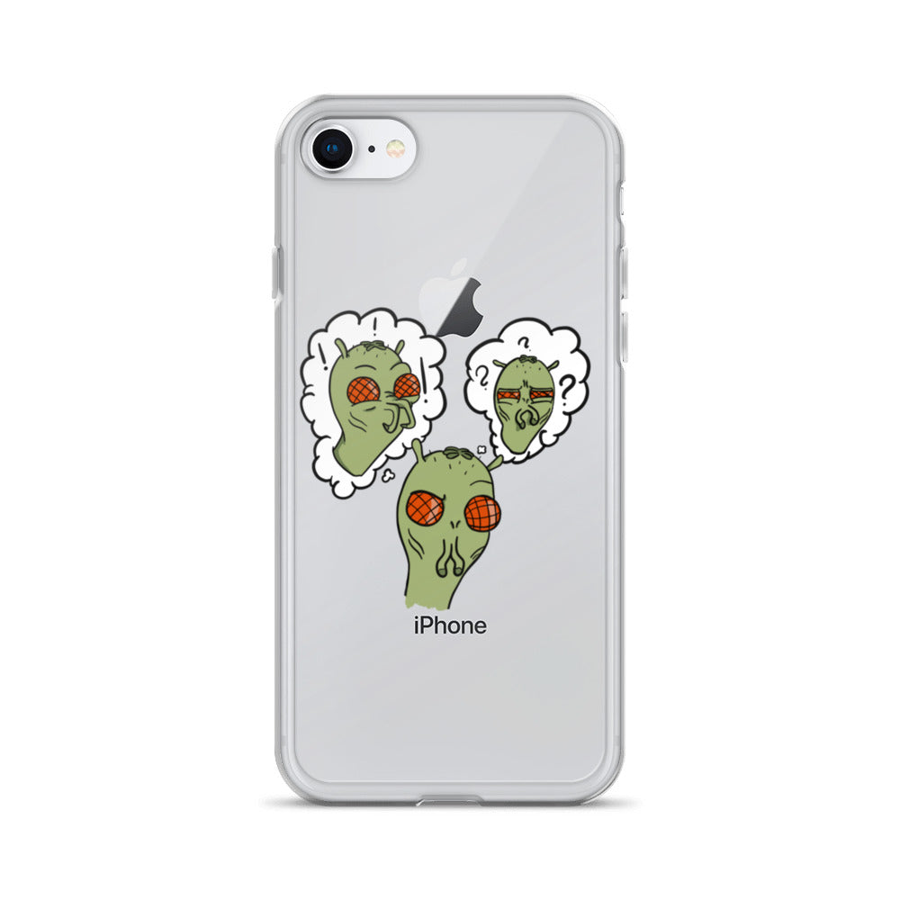 6287131049b3f Confused Alien Slim iPhone Case