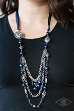 Load image into Gallery viewer, Paparazzi Exclusive All The Trimmings Blue Necklace Set