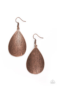 .All Allure Scratched Copper Earrings Paparazzi Jewelry kellystreasuretrove.com