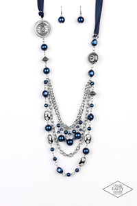 Paparazzi Exclusive All The Trimmings Blue Necklace Set