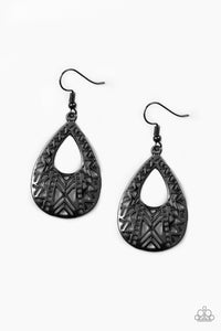 Paparazzi Alpha Amazon Black Earrings