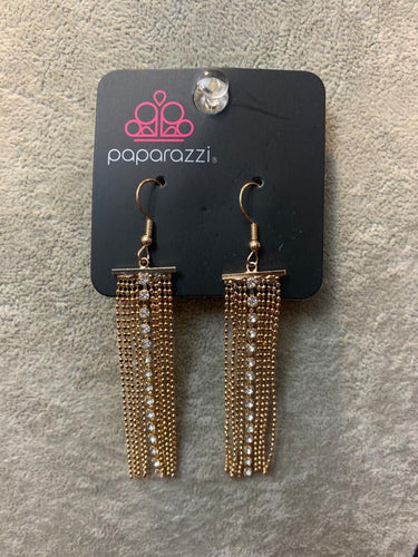 Paparazzi Exclusive Another Day, Another DRAMA Gold Earrings