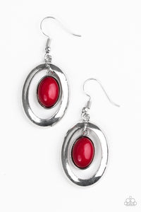 Paparazzi BEAD-iful Stranger Red Earrings