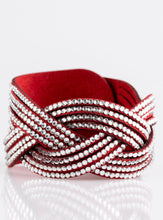 Load image into Gallery viewer, Paparazzi Big City Shimmer Red Wrap Bracelet