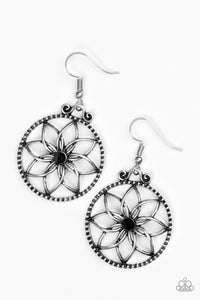 Paparazzi Bloom Bloom Black Earrings