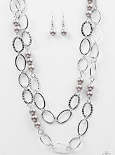 Load image into Gallery viewer, Paparazzi Box Office Romance Silver Necklace Set