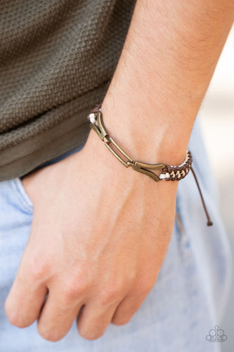 Paparazzi Bungee Bungalow Brown Bracelet
